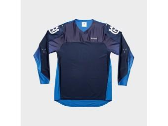 Railed Shirt Blue - Langarm Shirt