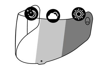 Helm Visier - X-SPIRIT III CWR-1 PHOTOCROMIC VISOR