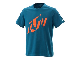 Radical Sliced Tee Blue - Kurzarm T-Shirt