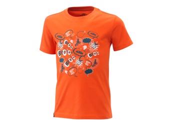 Kids Radical Tee orange - Kinder Kurzarm T-Shirt