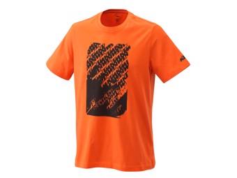 Radical Logo Tee orange - Kurzarm T-Shirt
