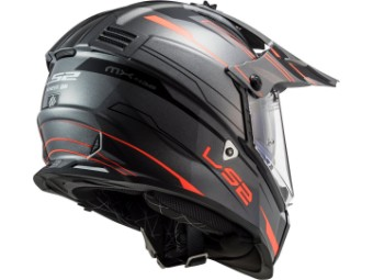 Helm - MX436 Pioneer Evo Knight Titanium orange