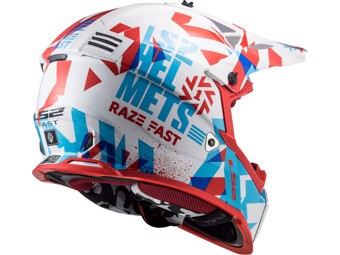 Helm - MX437 Fast Evo Mini Funky Red White