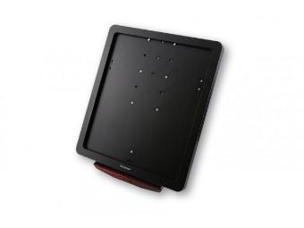 HIGHSIDER CNC Kennzeichen Halteplatte, schwarz eloxiert UNIV