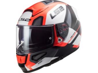 Helm - FF397 Vector FT2 Automat white fl. orange