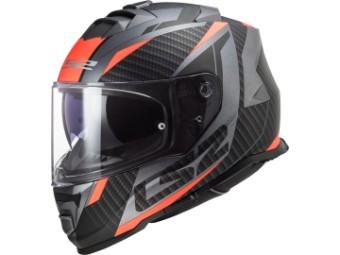 Helm - FF800 Storm Racer matt titanium fluo orange