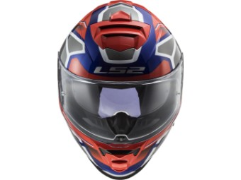 Helm - FF800 Storm Faster Red Blue