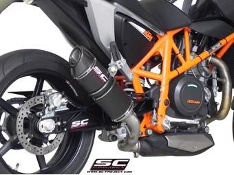 Oval Slip on Carbon KTM Duke 690 12-16