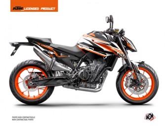 790 Duke orange blanc