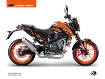 690 Duke noir orange