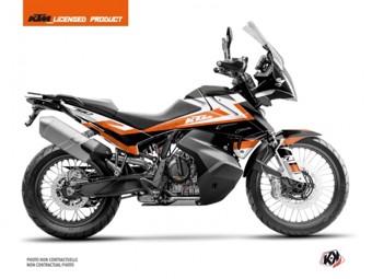 790 Adventure orange blanc
