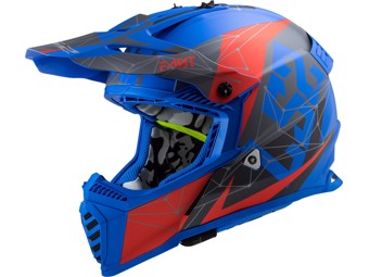 Helm - MX437 Fast Evo Alpha Matt Blue