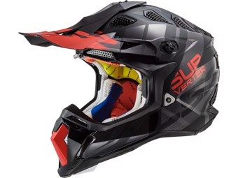 Helm - MX470 Subverter Troop Matt Black Red