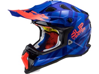 Helm - MX470 Subverter Troop Matt Blue Orange