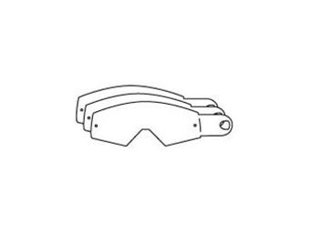 Tear-off Abreißscheiben - Racing Goggles - für MX-Brillen