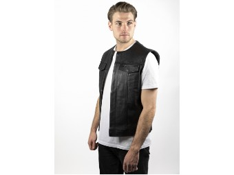 Leather Vest/Black