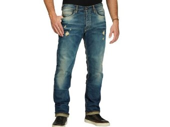 Biker Jeans Iron Selvedge Limited 1052 Distroyed Motorcycle Jeans