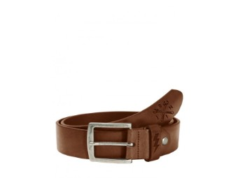Leather Belt Cross Tool Dark Cognac