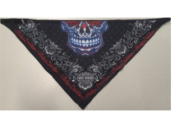 "Bandana Fleece ""Muertos Ladies"" BAC30084 Schwarz Skull Strass"