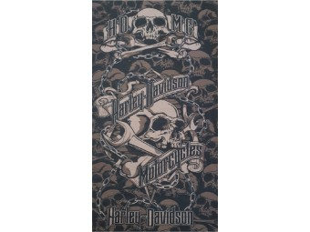"""Bandana Halstuch """"Grim Black & Grey"""" MHW34180"""