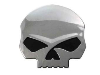 Decal/Sticker 3D Willie G. Skull DC1199062 Skull Chrome