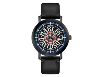 "Harley-Davidson Men's Watch ""Fat Boy Logo"" 78A120"