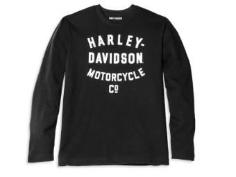 Harley-Davidson Racer Font Motorcycle Co. Long Sleeve Graphic Tee Herren