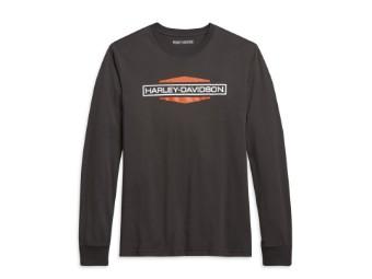 "Herren ""Stacked Logo"" Sweatshirt 96022-21VH Slim Fit Dunkelgrau"