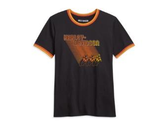 "Damen T-Shirt ""Ombre Racer"" Dunkelgrau 96032-21VW Motorrad"