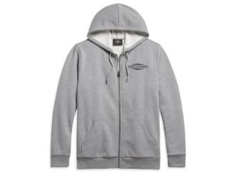 """Men's Hoddie """"Heather"""" Grey 96038-21VH Hoodie Sweatshirt"""