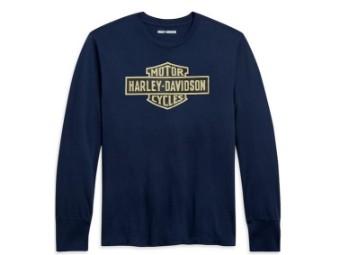 Harley-Davidson Vintage Logo Long Sleeve Tee - Slim Fit Herren