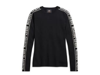 "Damen Sweatshirt ""Black"" Langarm 96186-21VW Longsleeve Schwarz"