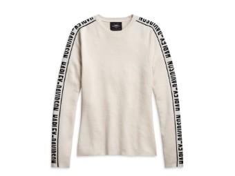 "Damen Sweatshirt ""Tan"" Shirt Langarm 96186-21VW Longsleeve Beige"