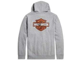 Mens Pullover -Logo- 96206-21VM Hoddie Grey