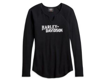 Harley-Davidson Raglan Sleeve Tee Damen