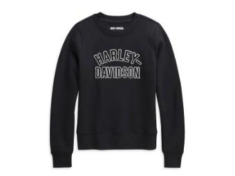 "Damen Pullover ""Appliqué"" Sweatshirt Schwarz 96232-21VW"