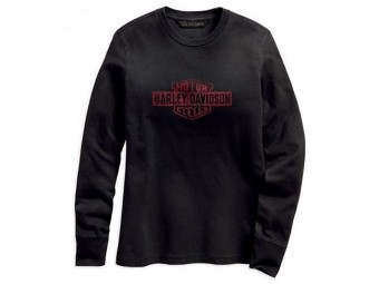 "Harley Davidson Damen Sweatshirt ""Flocked"" 96318-19VW Anthrazit Longsleeve Eagle"