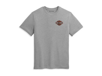 "Men's T-Shirt ""Double Bar & Shield"" Heather Grey 96353-21VM"