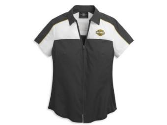Women's Bar & Shield Zip Front Shirt
