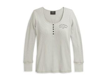 """Women's Sweatshirt """"H-D Moto Company USA"""" 96389-21VW Grey/Beige"""