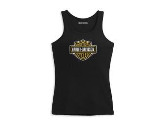 """Women's Tanktop """"Bar & Shield"""" 96391-21VW Logo Black"""