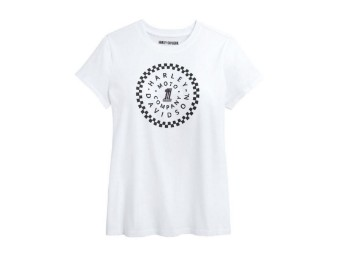 "Women's T-Shirt ""#1 Circle"" White"