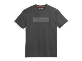 Herren T-Shirt 96414-21VM Bar & Shield Dunkelgrau