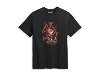 "Herren T-Shirt ""Forged Skull"" 96440-21VM Bar & Shield"