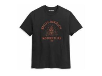 """Herren T-Shirt """"Drag Racer"""" 96441-21VM Schwarz"""
