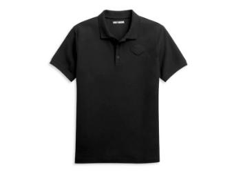Men's Embossed Logo Slim Fit Knit Polo