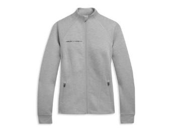 "Damen Zip-Jacke ""Mockneck"" 96472-21VW Active Grau Sweatshirt"