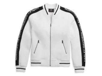 "Damen Jacke ""Sleeve Logo Active"" 96486-21VW Weiß Zip"
