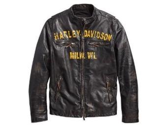"Men's Motorcycle Jacket ""FORGE SLIM FIT"" Brown 97006-18VM Leather Jacket"