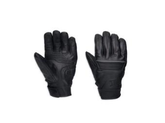 Black Streetbound Leather Gloves Herren